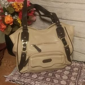 Tyler rodan cream with brown straps bag